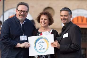 Carlo Maria Binni, Carla Paciaroni e Fabio Pucciarelli del Comitato ArteProArte